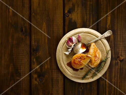 Chicken with honey, garlic and lemon