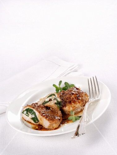 Stuffed veal shoulder with spinach and cheese