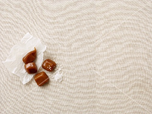 Caramel sweets with sea salt