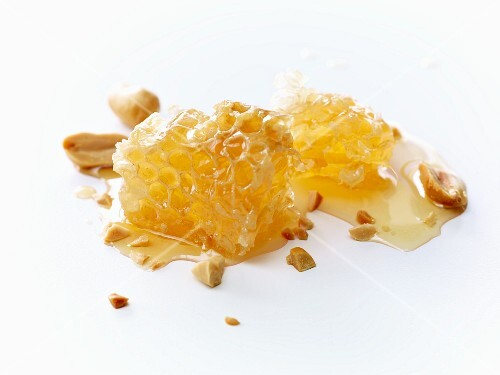 Honeycomb and peanuts