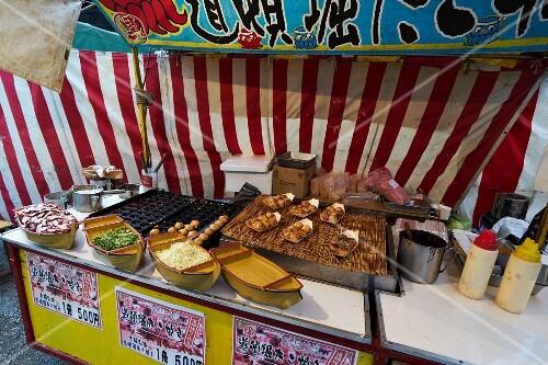 Takoyaki at a market stand (Japan)