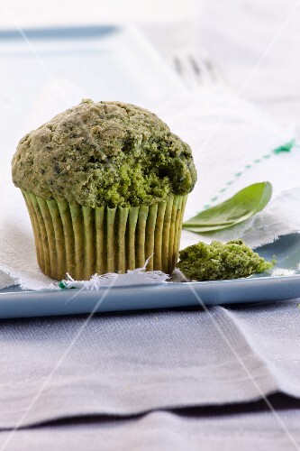 A spinach muffin