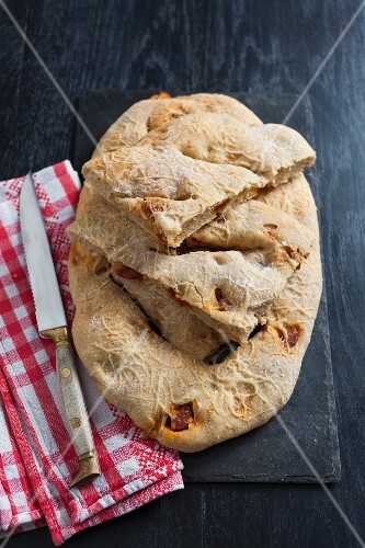 Fougasse with chorizo