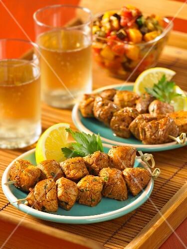 Moroccan pork kebabs
