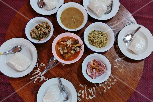 Various dishes from northern Thailand, Mae Hong Son, Thailand
