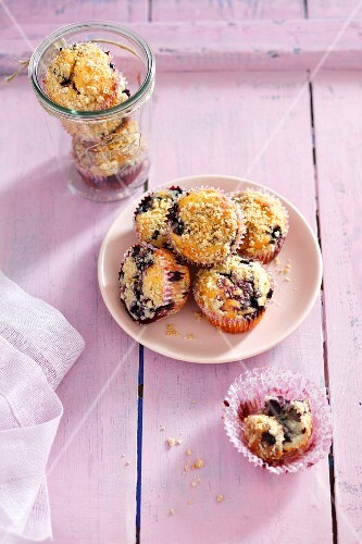 Blueberry muffins with sprinkles