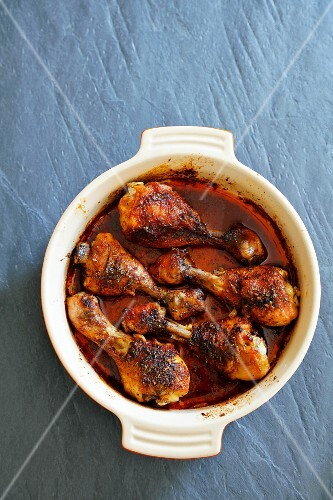 Oven-roasted chicken legs