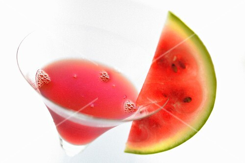 Melon Rouge drink (close up)