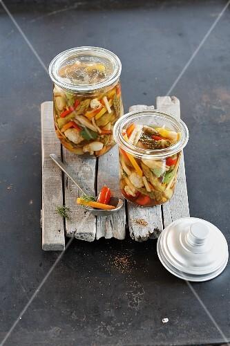 Acar (Indonesian sour pickled vegetables)