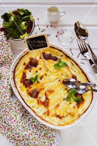Tartiflette (potato bake with Reblochon, Savoy, France)