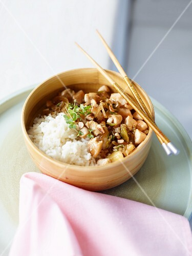 Chicken ragout with rice (Asia)