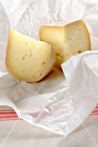 Two pieces of pecorino cheese