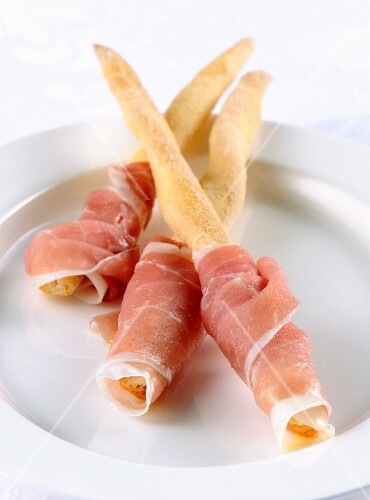 Breadsticks with San Daniele ham