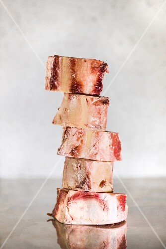 A stack of marrow bones