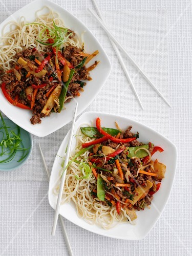 Noodles with beef and chilli (Asia)