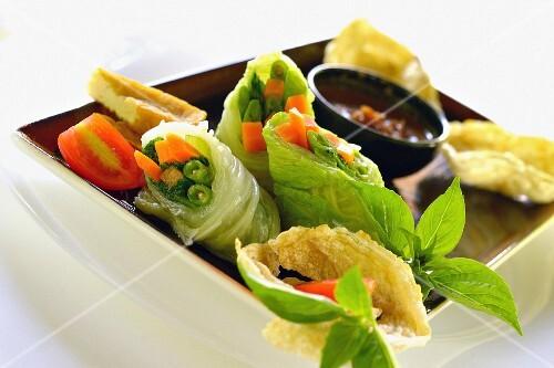 Gado-Gado lettuce rolls (Indonesian)