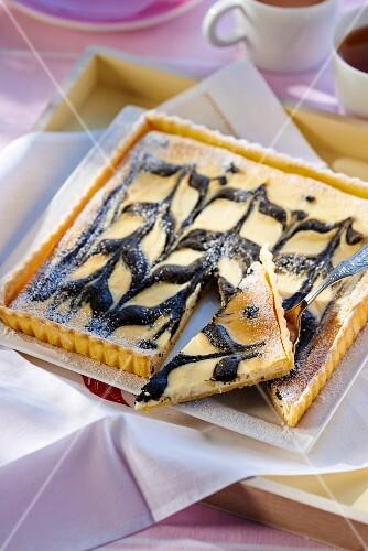 Sesame seed cheesecake