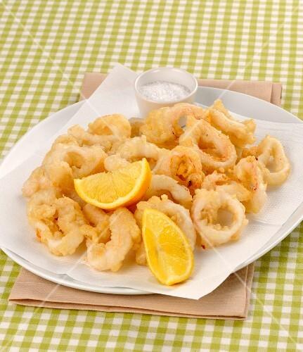 Calamari fritti (fried squid rings, Italy)