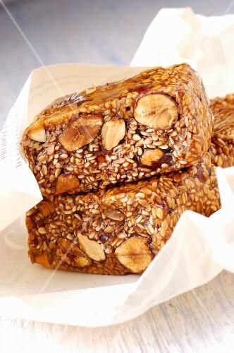 Cubaita di Modica (Italian nuts confectionery)