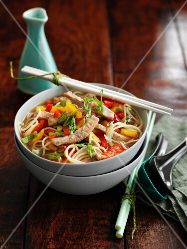 Miso noodle soup with pork (Asia)