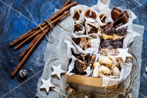 A selection of Christmas biscuits