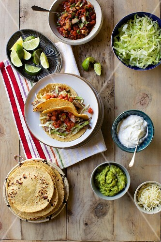 Taco with Ingredients
