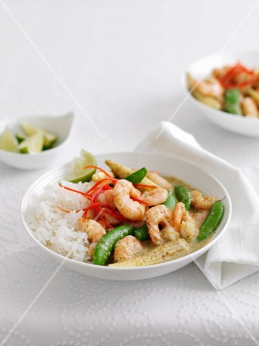 Prawn curry with rice (Thailand)