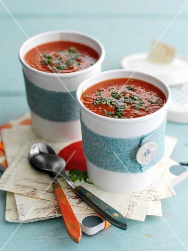 Tomato soup to take away