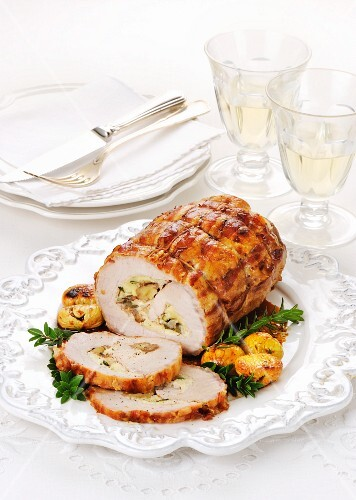 Pork roulade with a chestnut filling