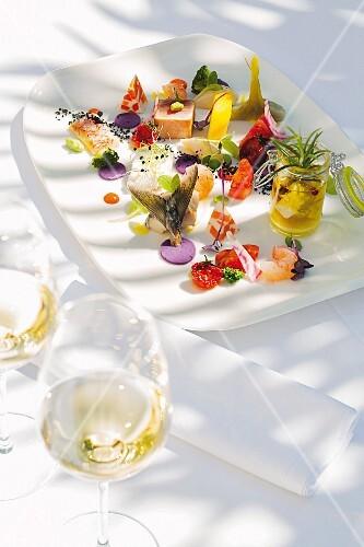 A menu in Villa Ariston, Istrian, Croatia