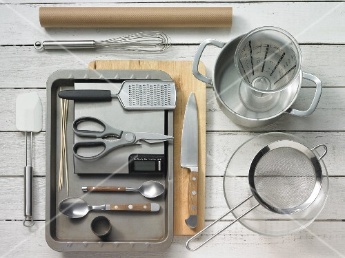 Kitchen utensils for making polenta and fish