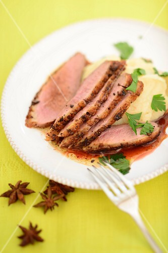 Duck breast with star anise