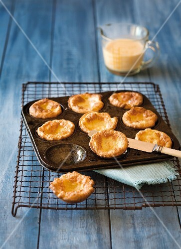 Classic Yorkshire puddings in a muffin tin