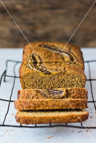 Freekeh banana bread, sliced