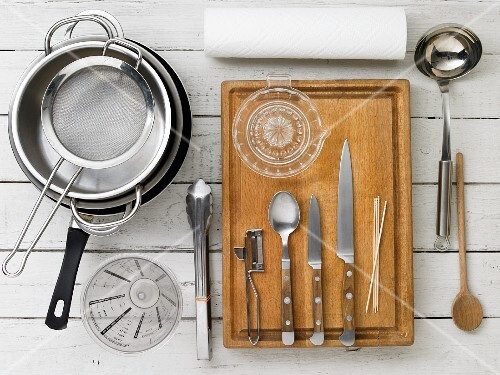 Kitchen utensils for making soup