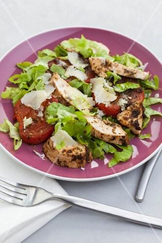 Chicken and pesto salad