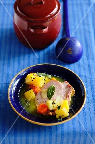 Turnip stew with gammon