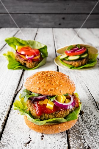 Gluten-free veggie burgers