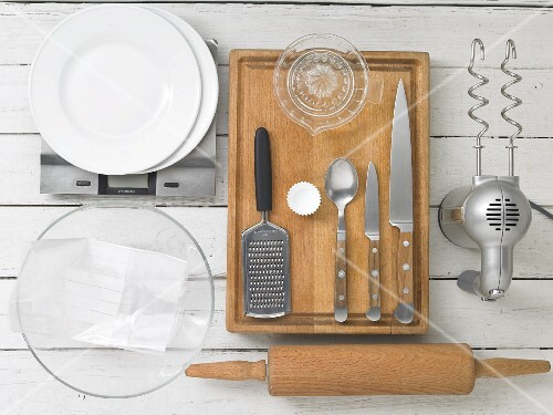 Kitchen utensils for making Easter sweets