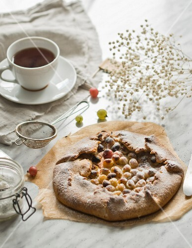 Galette with gooseberries