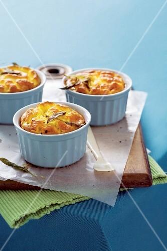 Pumpkin soufflés with pecorino cheese
