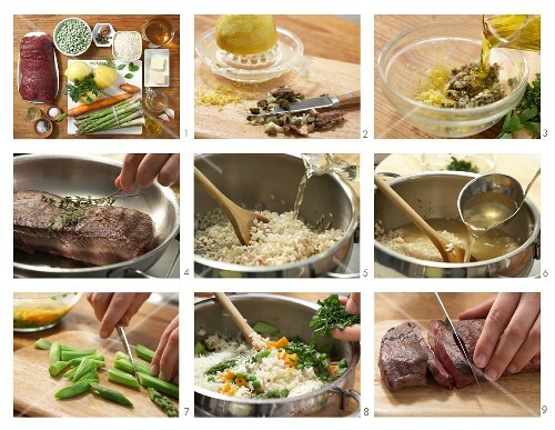 How to prepare saddle of venison with vegetable risotto