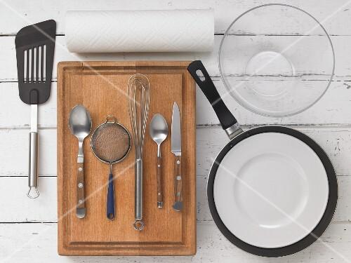 Kitchen utensils for preparing fritters