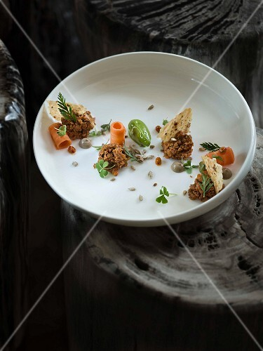 A dish by Jens Rittmeyer at the Restaurant KAI3 (on the German island of Sylt)