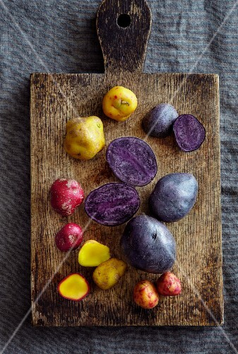 Various root vegetables from the Andes (South America)