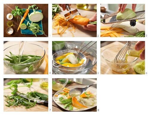 How to prepare vegetable carpaccio with vinaigrette