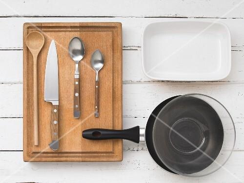 Kitchen utensils for preparing gratins
