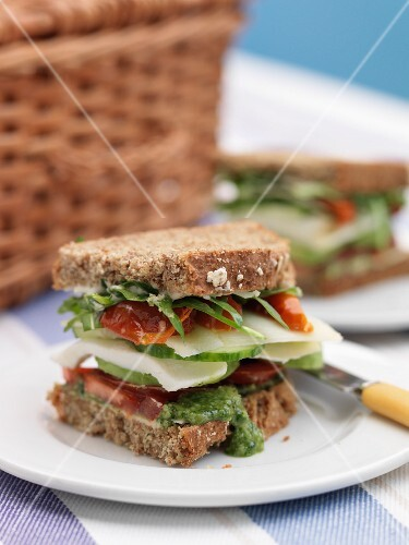 A BLT sandwich for a picnic