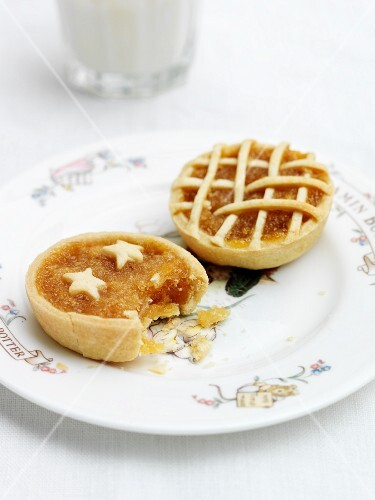 A close-up of mini treacle tarts