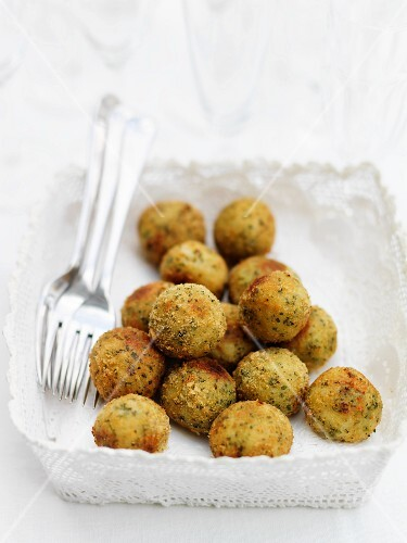 Parmesan & herb risotto balls